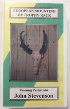 European Mounting Of Trophy Rack VHS Taxidermy Hunting Buck Deer Elk RARE OOP