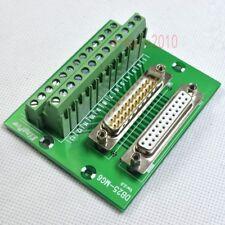D-SUB DB25 Plug Male / Female Header Breakout Board Terminal Block Connector M/F