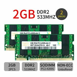 für Hynix 4GB 2 x 2GB PC2-4200S DDR2-533MHz 200PIN Notebook Laptop-Speicher