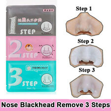 Women's 3 Step Clean Blackhead Remover Nose Mask Acne Remover Kit Beauty Sticker