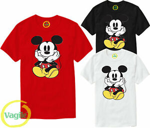 Disney Mickey Minnie Mouse Cute Couple Cartoon Men Women Unisex T-shirt All Size