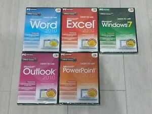 Learn to Use office word, excel, outlook PowerPoint and windows dvds suite pack