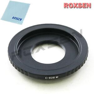 "C mount 16mm 1/2"" CCTV lens to Canon EOS M EF-M mount Mirrorless adapter M2 M3"