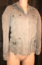 Giordano Ladies Olive Brown Army military Style Button up Jacket Size XS