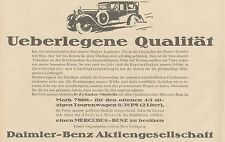 Y4914 Automobile MERCEDES-BENZ - Pubblicità d'epoca - 1927 Old advertising