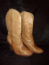 Vintage Cowboy Boots, Ladies 6 1/2, Brazil, 1970s, Repurpose, Halloween Prop