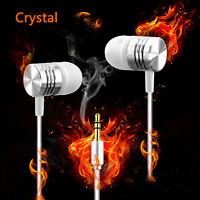 3.5mm Crystal Earphones In Ear Earbuds Bass Headphones For Huawei Honor V8 Lot