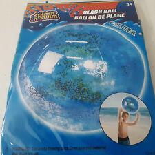 Blue Glitter Inflatable Beach Ball Ocean Luau Summer Party Swimming Pool