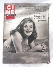 CINE-REVUE 11 janv 1952 HILDEGARDE NEFF MICHELE MORGAN BERNARD BLIER HITCHCOCK