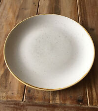 Churchill STONECAST Coupe Plate Barley White Platte Porzellan 21,7 cm weiß