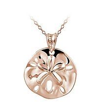 Rose Gold Tone over Sterling Silver Beach Sand Dollar Necklace