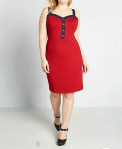 NWT Modcloth Retro Sleeveless Dress XL
