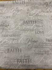 Faith Hope Love Religious Fabric