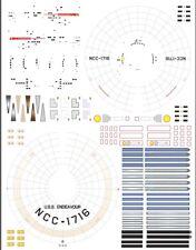 Endeavour ncc-1716 1/1000 Polar Lights Star Trek TOS enterprise model kit decals