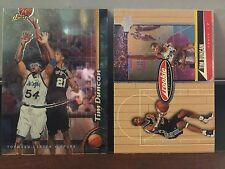 1998-99 San Antonio Spurs Tim Duncan 2 Piece Rookie Year Card Lot