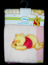Disney Printed Fleece Blanket Girls Winnie the Pooh 38 X 28 NWT