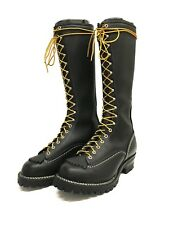 "Wesco Jobmaster 16"" Black Boots, Nickle Hardware"