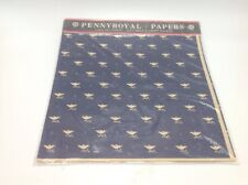Vintage PennyRoyal Papers Gift Wrap Wrapping Paper Colonial Birds 8 Sheets 1982