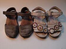 Lote calzado verano niña numero 23: menorquinas y sandalias de piel