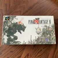 FINAL FANTASY 6 SQUARE SFC with BOX JAPAN Import GOOD CONDITION O Japan F/S