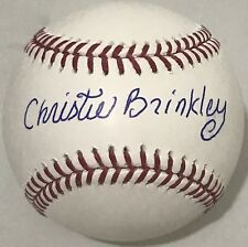 CHRISTIE BRINKLEY SIGNED OML BASEBALL SPORTS ILLUSTRATED SWIMSUIT MODEL BECKETT