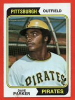 1974 Topps #252 Dave Parker GOOD+ PAPER LOSS Pittsburgh Pirates ROOKIE RC