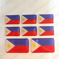 Pegatinas Filipinas Pegatina Bandera Filipinas Vinilo Adhesivo 3D Relieve Resina