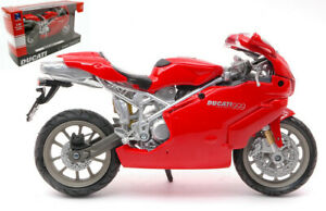 Miniature Moto Ducati 999 auto 1:12 Moteur Bike Modélisme Static Motorbike