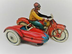 JML Motorcycle and Sidecar Tin Toy - Motorrad mit Beiwagen Blechspielzeug Motor