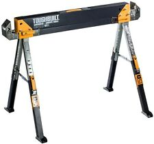 TOUGHBUILT 32 in. Tall Adjustable Height Folding Sawhorse Cut Framing Boards