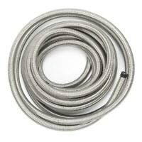 6AN 20FT Braided Stainless Steel Oil Fuel Hose Silver AN6 Oil Hose