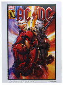 Iron Man AC/DC Heavy Metal Lithograph Unnumbered Proof Marvel Comics