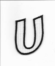 "2"" Letter U Embroidered Iron On Alphabet Patch wx0019"