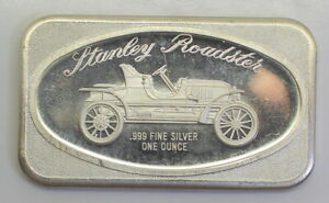 NICE 1972 Stanley Roadster 1 oz Silver Bar .999 - Madison Mint MAD-6