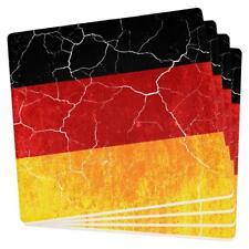 Oktoberfest Distressed Grunge German Flag Set of 4 Square Sandstone Coasters