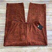 NEW John Mark Medium M Orange Textured Art to Wear Pull On Pants $119