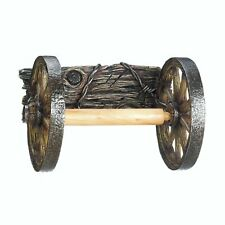 Wagon Wheel Themed Wall Mounted Toilet Paper Holder - Bathroom Country Decor