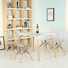 4er Set Stühle Acryl Küchenstühle Wohnzimmerstuhl Transparent Esszimmerstühle