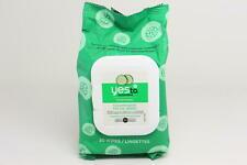 Lot x 2 Yes To Cucumber Hypoallergenic Facial Towelettes, 30 Count AA14