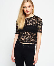 Womens Superdry Tops. Various Styles & Colours AU - Lace Black XS