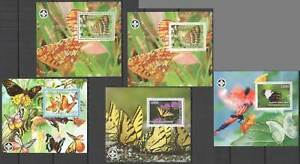 F0825 IMPERF,PERF 2007 PALESTINIAN BUTTERFLIES FLORA FAUNA SCOUTING !!! 5BL MNH
