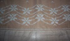 IVORY FLORAL MESH LACY SHEER EUROPEAN PANEL - 66X34-STUNNING