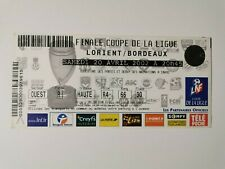 FOOTBALL TICKET BILLET MATCH FINALE COUPE DE LA LIGUE LORIENT / BORDEAUX 2002