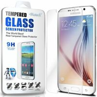 Tempered Glass Screen Protector & Silicone Gel Transparent Case For Samsung S6
