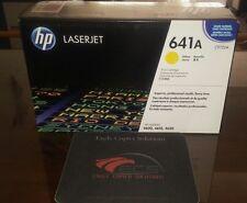 NEW GENUINE SEALED HP 641A (C9722A) Yellow Print Cartridge