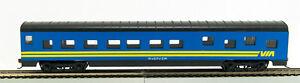 HO 72 Ft Pass. Pullman Sleeper, RTR Via Rail (Blue/Yellow) (1-992)
