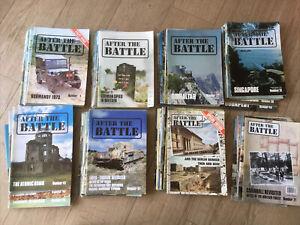 75 X After the Battle WW2 magazine Military History Job Lot