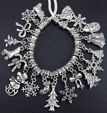 20X Lots Tibetan Silver Christmas Gift Dangle Beads For European Charms Bracelet