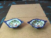 Pair of Japanese Salts hand decoration Vintage