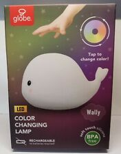 Wally Whale White Multicolor Changing Integrated Led Silicone Night Lamp [New]